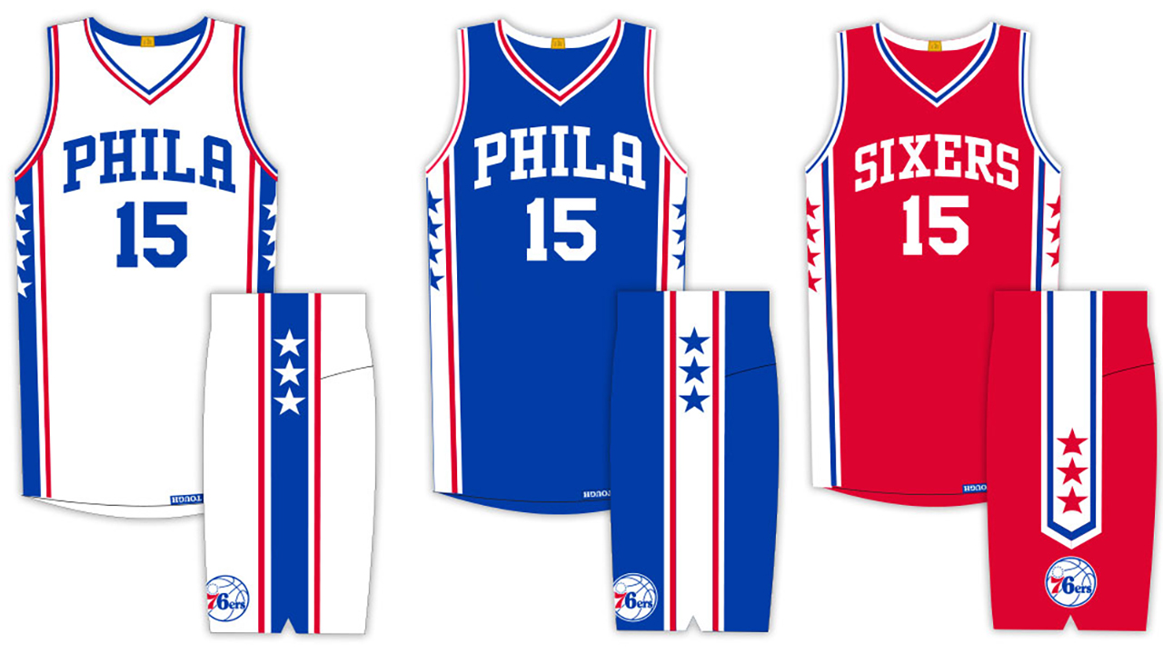 info for 8a740 280be Philadelphia 76ers unveil new uniforms